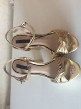 Dorothy Perkins Cameron Gold Platform Female Shoes UK Size 5