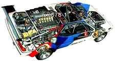 BMW M1 Procar / 1979  -  Bild Schnittzeichnung