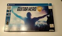 Guitar Hero Live PS4 Bundle - Guitar with Strap & Game *GREAT* NO DONGLE