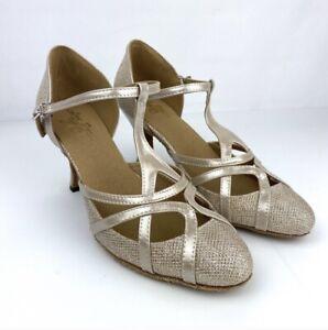 Love dance YC Women's Sparkle Salsa Shoes Dancing Size 8.5