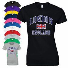 I Love London England Union Jack T Shirt Novelty Souvenir Xmas Gift Ladies Top