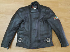 Kid Zone Lewis Leather Jacket Motorcycle Race Biker Vintage Aviakit Size 9/10