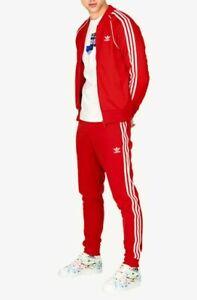 MED  adidas OG MEN'S Adicolor Superstar TRACKSUIT Jackets & Pants Scarlet  LAST1