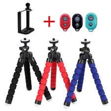 Flexible Tripod Octopus Stand+Bluetooth Remote+Clip Holder For Apple iPhone