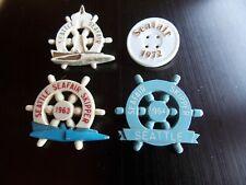 SEATTLE SEAFAIR SKIPPER pin pinback Hydroplane buttons,1963,1964,1972,1962.