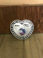 Silver Love Coin Gift Commemorate Dolphin Heart Shaped Beautiful Christmas Gift