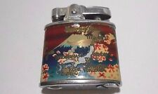 Vintage OMEGA AUTOMATIC CHROME CIGARETTE LIGHTER MEMORY OF JAPAN COLORED MAP