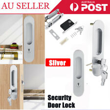 Security Screen Door Lock Cylinder Barrel Replacement Anti-theft With 3 Keys