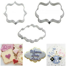 3Pcs Cake Tool Mold Mould Pastry Fondant Cookies Cutter Decorating Sugarcraft