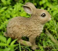 NEW Baby Hare Cub Jumping Adorable Cute Figurine - Statue Home / Garden