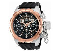 Invicta 21631 Gent's Chrono Black Silicone Strap Black Dial Watch