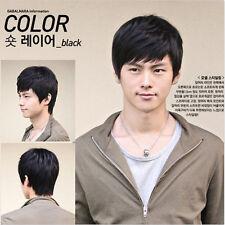 Short Black or Brown Men Straight Fashion Hair Full Fashion Wig Cosplay Wig+Cap