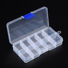 "1 Pack Empty Plastic Bead Storage Boxes 10-Grid Clear Organizer Display 5""x2.7"""