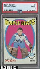 1971 Topps Hockey #131 Bernie Parent Maple Leafs HOF PSA 9 MINT