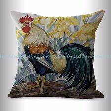US SELLER, farmhouse animal rooster chicken cushion cover sofa pillows cheap