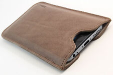 iPhone 4 / 4S Leder Handytasche braun Case Hülle bag Cover Etui WUNSCHGRAVUR