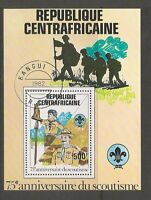 Central African Republic SC # 501 Scouting Year . Souvenir Sheet. MNH
