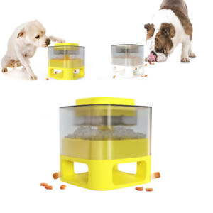 Dog Cat feeder automatic Interactive Slow Food Dispenser Bowl Non Slip Puzzle