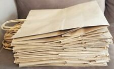 Large Brown Paper Shopping Bags With Handles Size 12 X 7 X 14 Lot Of 25