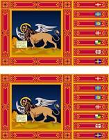 2x Adhesivo adesivi pegatina sticker vinilo bandera vinyl italia veneto