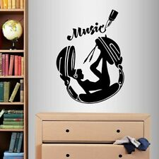 Vinyl Decal Sexy Girl Woman with Headphones Music Any Room Wall Sticker 953