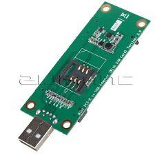 Mini PCI-e mPCI Express to USB Adapter w/ SIM Card Slot WWAN Antenna