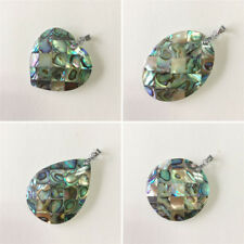 Natural Abalone Sea Shell Pendant Crafts Necklace Jewellry Decor Gift 23mm