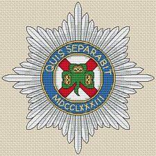 "Irish Guards Army Cross Stitch Design (6x6"", 15x15cm, kit or chart)"