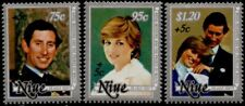 Niue B52-4 MNH Charles & Diana Wedding, Royalty