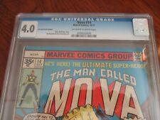 Marvel  NOVA  # 14  .35 CENT PRICE VARIANT  1977 CGC 4.0 Sandman app.!