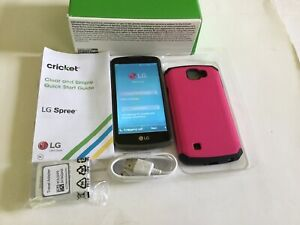 LG Spree Smartphone Cricket Black Android Phone