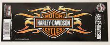 NEW Genuine Harley Davidson USA Flaming Bar & Shield HD logo mini decal sticker