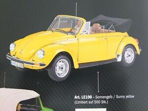 Le Grand 1:8 1976 VW Käfer Cabriolet sonnengelb Art Nr LE100 passend zu Pocher