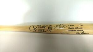 PSA JSA Jim Valvano Johnny Unitas Reggie Jackson Bruce Caitlyn Jenner Signed Bat