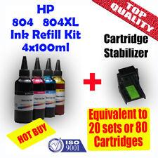 HP 804 804XL Refill Ink Cartridges 4x100ml HP envy Photo 7820, 6222, 6220