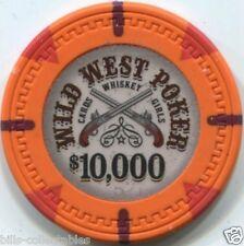 12 pc 12 color set 13.5 gm WILD WEST POKER poker chip sample set #236
