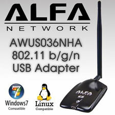 ALFA AWUS036NHA 802.11n Wireless-N Wi-Fi Adapter   Low Buffer + Clip + Suck