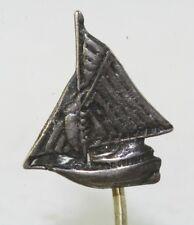 Silver Sailboat Stickpin Victorian Antique Sterling