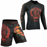 VERUS Brazil MMA Shorts & Rash Guards Set BJJ Grappling No Gi Wear Jiu Jitsu UFC