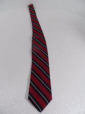 Brookville Collection Men Maroon/Blue/White Necktie Dress/Work Suit TIE-VGC