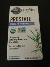 Garden of Life mykind Organics Prostate Herbal Support 60 tabs Exp. 9/20