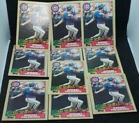 Lot of 10 Rafael Palmeiro Future Stars 1987 Topps NM-MT 20-2210K