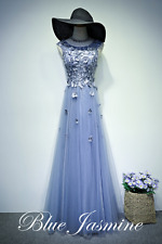 New Beaded Long Evening Party Prom Dress Formal Wedding Gown Custom Size 6-22++