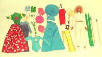 "Dusty Doll Kenner 12"" 1974 Set Gymnast Tennis Ski Baseball Golf Shoes Clothes"
