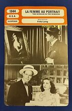 US Fritz Lang Movie The Woman In The Window French Film Trade Card