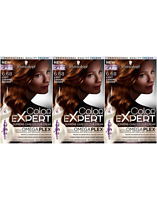Schwarzkopf Color Expert 6.68 Light Caramel Brown Permanent Hair Dye x3