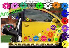 daisy 40 FLOWER Rainbow SET Car Gift idea wife college student girl Decal USA