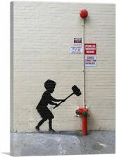 ARTCANVAS Hammer Boy Canvas Art Print by Banksy