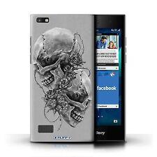 Skull Art Sketch Phone Case/cover for Blackberry Leap Roses