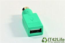 USB auf PS2 Adapter grün (USB A-Buchse auf PS/2-Stecker)